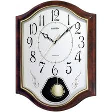 Rhythm Plastic case , Pearl Printed dial, Westminster Chime and Striking value added wall clock